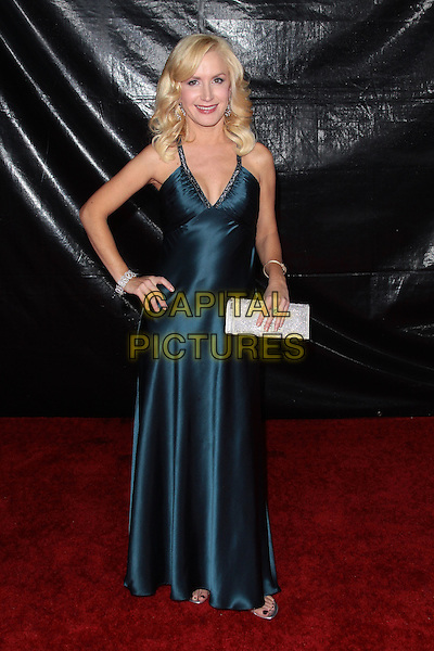 ANGELA KINSEY.NBC Universal's 67th Annual Golden Globe After Party held at Beverly  Hilton, Beverly Hills, California, USA..January 17th 2010.globes full length  green blue teal silk satin dress  hand on hip silver clutch bag maxi.CAP/ADM/TC.©T.Conrad/Admedia/Capital Pictures
