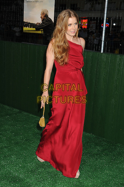 "Amy Adams.""Trouble With The Curve"" Los Angeles Premiere held at the Regency Village Theatre, Westwood, California, USA..September 19th, 2012.full length dress gold bag purse red  .CAP/ADM/BP.©Byron Purvis/AdMedia/Capital Pictures."