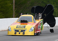 May 17, 2014; Commerce, GA, USA; NHRA funny car Bob Bode during qualifying for the Southern Nationals at Atlanta Dragway. Mandatory Credit: Mark J. Rebilas-USA TODAY Sports