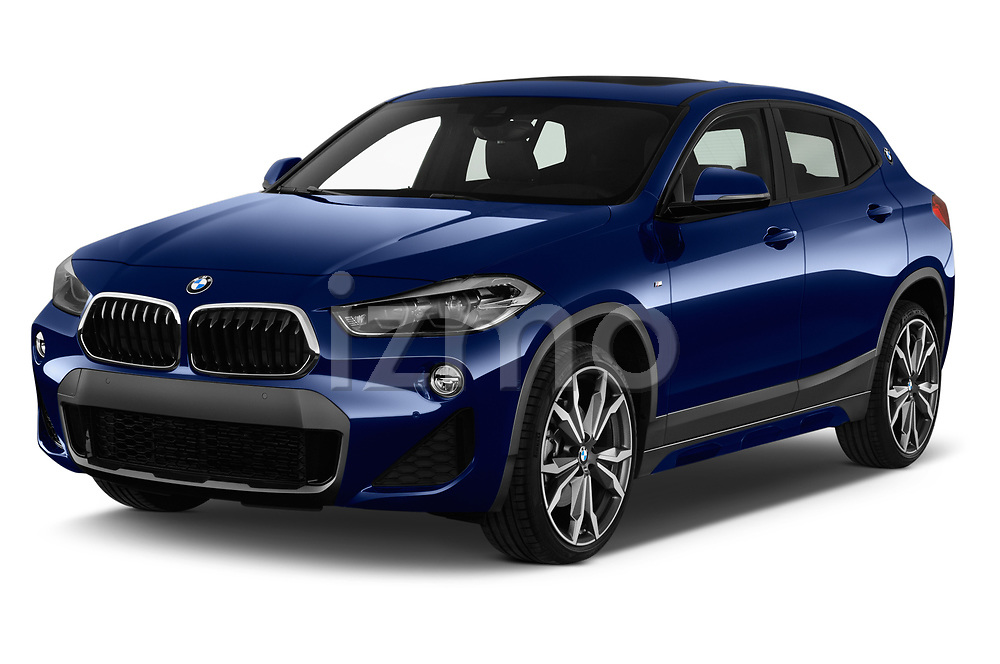 2018 BMW X2 M Sport X 5 Door SUV angular front stock photos of front three quarter view