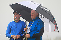 Matthew McClean (Malone) and his Dad on the 1st tee during Round 1 - Matchplay of the North of Ireland Championship at Royal Portrush Golf Club, Portrush, Co. Antrim on Wednesday 11th July 2018.<br /> Picture:  Thos Caffrey / Golffile