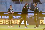 Werder Bremen im neuen Trikot, Maximilian Eggestein (Werder Bremen #35), Florian Kohfeldt (Trainer SV Werder Bremen), Frank Schmidt (1. FC Heidenheim 1846 #Trainer, Headcoach)<br /> <br /> <br /> Sport: nphgm001: Fussball: 1. Bundesliga: Saison 19/20: Relegation 02; 1.FC Heidenheim vs SV Werder Bremen - 06.07.2020<br /> <br /> Foto: gumzmedia/nordphoto/POOL <br /> <br /> DFL regulations prohibit any use of photographs as image sequences and/or quasi-video.<br /> EDITORIAL USE ONLY<br /> National and international News-Agencies OUT.