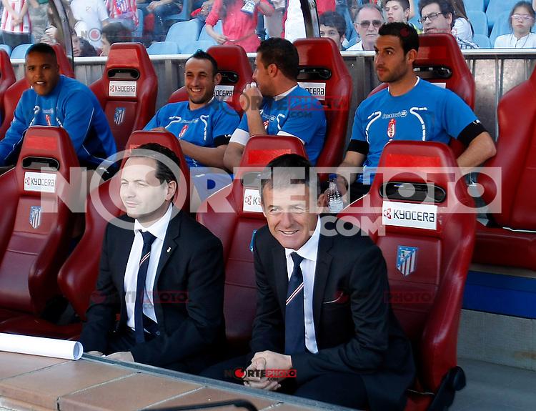 Granada's coach Lucas Alcaraz during La Liga BBVA match. April 14, 2013.(ALTERPHOTOS/Alconada)