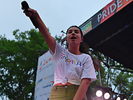 Washington, DC - June 10, 2018:  Alessia Cara performs at the 2018 Capitol Pride concert in Washington, D.C. June 10, 2018.  (Photo by Don Baxter/Media Images International)