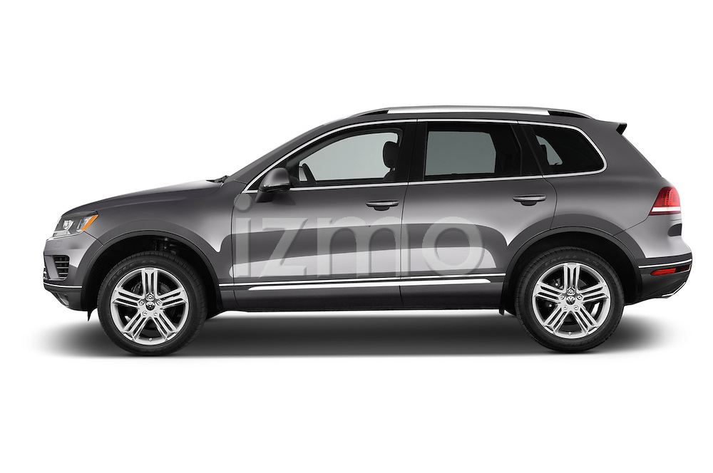 Car Driver side profile view of a 2015 Volkswagen Touareg Executive 5 Door Sport Utility Vehicle Side View