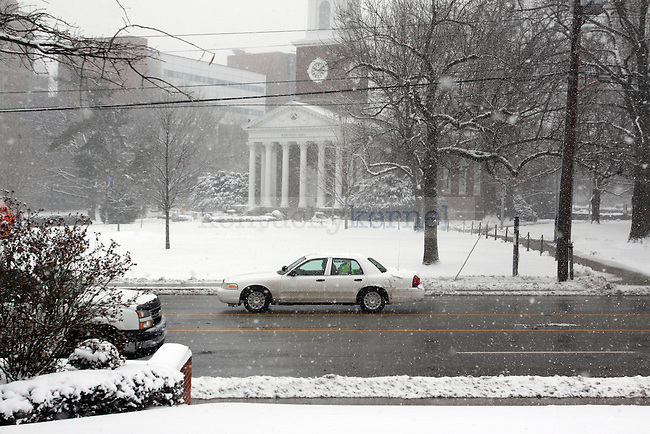 UK's campus is covered in snow on Monday. Photo by Scott Hannigan | Staff