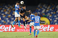Kostantinos Manolas of SSC Napoli and Luis Felipe of SS Lazio<br /> during the Serie A football match between SSC  Napoli and SS Lazio at stadio San Paolo in Naples ( Italy ), August 01st, 2020. Play resumes behind closed doors following the outbreak of the coronavirus disease. <br /> Photo Cesare Purini / Insidefoto