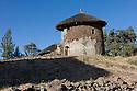 23/01/12. Lalibela, Ethiopia. Lalibela-style, double-storey round house. Photo credit: Jane Hobson.