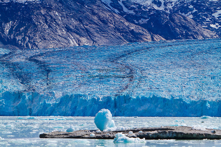 Dawes Glacier in Edicott Arm in Alaska's Inside Passage. This area is part of the Tracy Arm-Fords Terror Wilderness in the Tongass National Forest