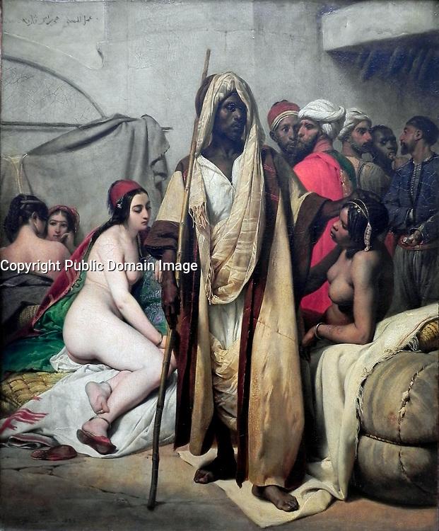 Horace Vernet                           Slave Market, 1835