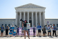 Pro-Life activists rally outside the United States Supreme Court in Washington D.C., U.S., on Monday, June 29, 2020.  The Court delivered a 5-4 ruling blocking a restrictive abortion law in Louisiana Monday morning.  Credit: Stefani Reynolds / CNP /MediaPunch