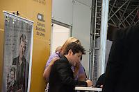 """SÃO PAULO-SP-26,08,2014-BIENAL/DANIEL-LANÇAMENTO- O Cantor Daniel durante o lançamento do livro """"MINHA ESTRADA"""".Em Arena Cultural,na Bienal do Livro no Anhembí,região norte da cidade de São Paulo,na noite dessa Terça-Feira,26(Foto:Kevin David/Brazil Photo Press)"""
