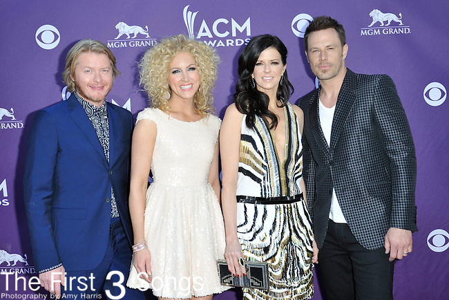 Little Big Town attends the 47th Annual Academy of Country Music Awards in Las Vegas, Nevada on April 1, 2012.