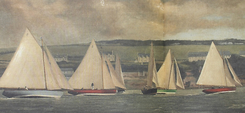 Cork Harbour One Designs of 1896 in pre-start manoeuvres