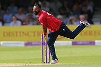 Ashar Zaidi in bowling action for Essex during Essex Eagles vs Notts Outlaws, Royal London One-Day Cup Semi-Final Cricket at The Cloudfm County Ground on 16th June 2017
