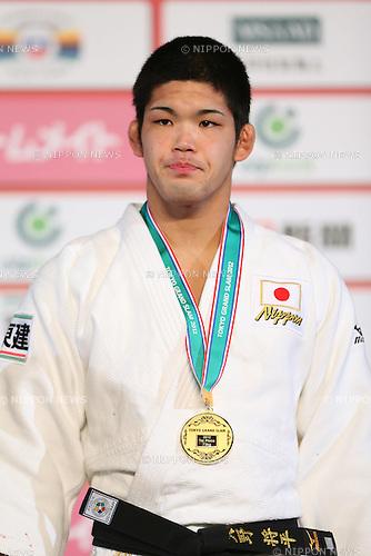 Shohei Ono (JPN), .December 1, 2012 - Judo : .Grand Slam Tokyo 2012, Men's -73kg class Medal Ceremony .at Yoyogi 1st Gymnasium, Tokyo, Japan. .(Photo by Daiju Kitamura/AFLO SPORT) [1045]