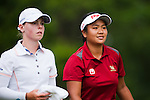 CHON BURI, THAILAND - FEBRUARY 17:  Numa Gulyanamitta (R) of India and Christel Boeljon of Netherlands walk on the 9th hole during day two of the LPGA Thailand at Siam Country Club on February 17, 2012 in Chon Buri, Thailand.  Photo by Victor Fraile / The Power of Sport Images