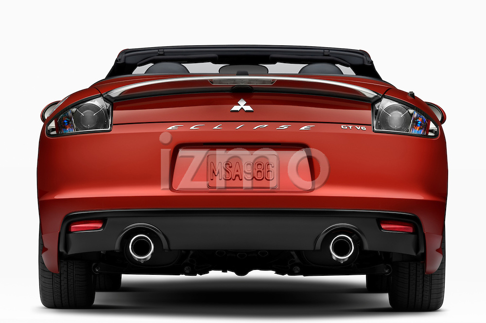 Straight rear view of a 2009 Mitsubishi Eclipse GT Spyder Convertible