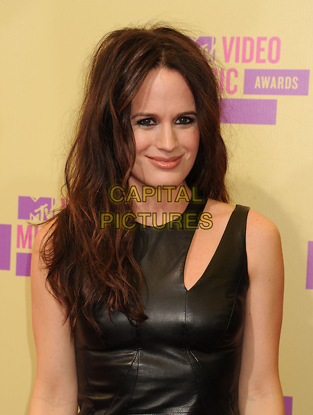 Elizabeth Reaser.arriving at the 2012 MTV Video Music Awards at Staples Center in Los Angeles, California, USA, .September 6th, 2012..arrivals vmas vma  half length leather dress cut out shoulder .CAP/ROT/TM.©TM/Roth Stock/Capital Pictures