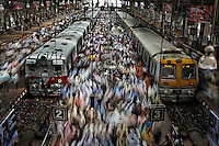 Churchgate Railway Station in Mumbai.