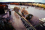 Flooding of the Rhone River at Avignon, France