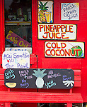 Hanalei, Kauai, Hawaii<br /> Smoothie stand in Hanalei, on the north shore of Kauai