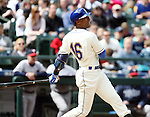 Seattle Mariners'  Austin jackson bats against the Minnesota Twins April 26, 2015 at Safeco Field in Seattle.  The Twins beat the Mariners beat the Angels 4--2. ©2015. Jim Bryant photo. All RIGHTS RESERVED.
