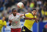 FUSSBALL   1. BUNDESLIGA   SAISON 2012/2013   5. Spieltag Hamburger SV  - Borussia Dortmund                   22.09.2012         Michael Mancienne (li, Hamburger SV)  gegen Robert Lewandowski (re, Borussia Dortmund)