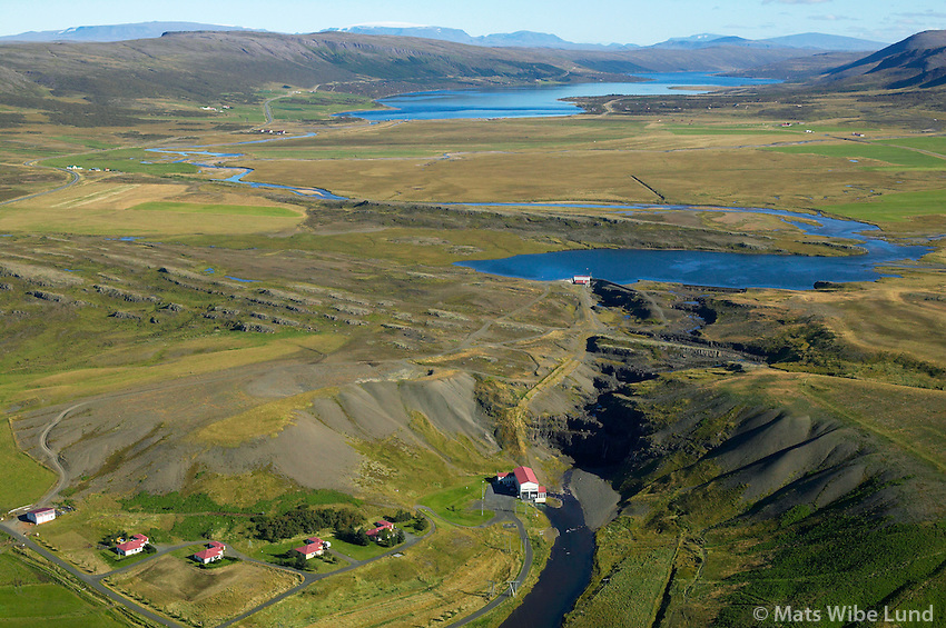Andak&iacute;lsvirkjun OR, Borgarbygg&eth; &aacute;&eth;ur Andak&iacute;lshreppur. &Iacute; kringum Skorradalsvatn er Skorradalshreppur /  <br /> Andakilsvirkjun power plant of Reykjavik Energy, Borgarbyggd former Andakilshreppur. Above is  Skorradalshreppur