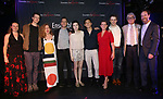 "Bailey Cunningham, Daniel Mantei, Eve Wolf, Adrian Kramer, Stephanie Zyzak, Ji, Shorey Walker,Ari Evans, Donald T. Sanders and Joey Slotnick attends the Opening Night After Party for the Ensemble for the Romantic Century production of ""Tchaikovsky: None But the Lonely Heart"" Off-Broadway Opening Night  at West Bank Cafe on May 31, 2018 in New York City."