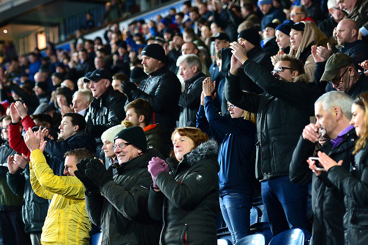 Blackburn Rovers fans applaud<br /> <br /> Photographer Richard Martin-Roberts/CameraSport<br /> <br /> The EFL Sky Bet Championship - Blackburn Rovers v West Bromwich Albion - Tuesday 1st January 2019 - Ewood Park - Blackburn<br /> <br /> World Copyright © 2019 CameraSport. All rights reserved. 43 Linden Ave. Countesthorpe. Leicester. England. LE8 5PG - Tel: +44 (0) 116 277 4147 - admin@camerasport.com - www.camerasport.com
