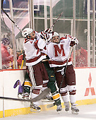 Patrick Kiley (UMass - 21), Anders Franzon (Vermont - 27), Troy Power (UMass - 20) - The University of Massachusetts (Amherst) Minutemen defeated the University of Vermont Catamounts 3-2 in overtime on Saturday, January 7, 2012, at Fenway Park in Boston, Massachusetts.
