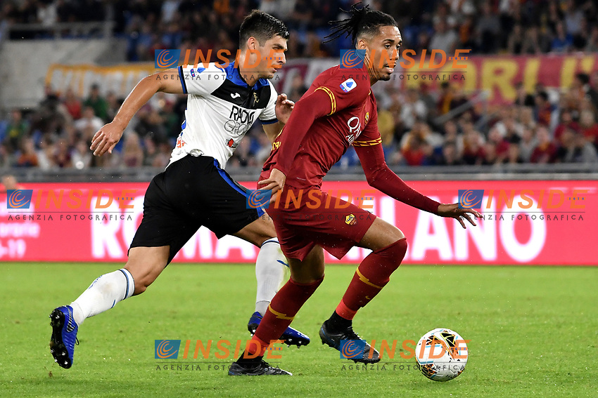 Ruslan Malinovskyi of Atalanta BC , Chris Smalling of AS Roma <br /> Roma 25-9-2019 Stadio Olimpico <br /> Football Serie A 2019/2020 <br /> AS Roma - Atalanta Bergamasca Calcio <br /> Foto Andrea Staccioli / Insidefoto