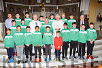 Canon David Lupton Manchester England was made a special presentation by Castleisland AFC soccer club to celebrate his Golden Jubilee in St Stephen and John church Castleisland on Sunday