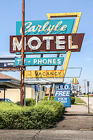 Carlyle Motel on Route 66 in Oklahoma City, Oklahoma.