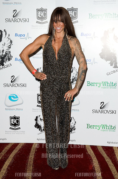 Jodie Marsh arriving for the Global Angels Awards at the Park Plaza Hotel in Westminster London. 02/12/2011 Picture by: Simon Burchell / Featureflash