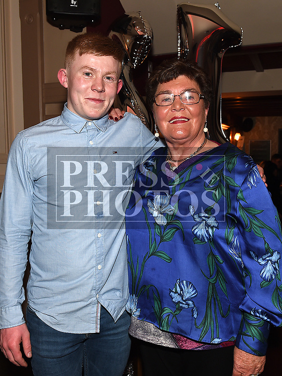 Jack Thompson celebrating his 21st birthday in Donaghys with grandmother Etty Heery. Photo:Colin Bell/pressphotos.ie