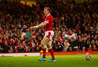 1st February 2020; Millennium Stadium, Cardiff, Glamorgan, Wales; International Rugby, Six Nations Rugby, Wales versus Italy; Nick Tompkins of Wales celebrates after scoring a try one his debut to make the score 26-0