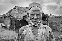 Old Fisherman. Fishing village close to New Bussa, Niger State, Nigeria.