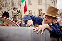 Atmosphere as seen during the celebration of the 175th anniversary of the battle of the Alamo, Friday, March 4, 2011, in San Antonio. (Darren Abate/pressphotointl.com)