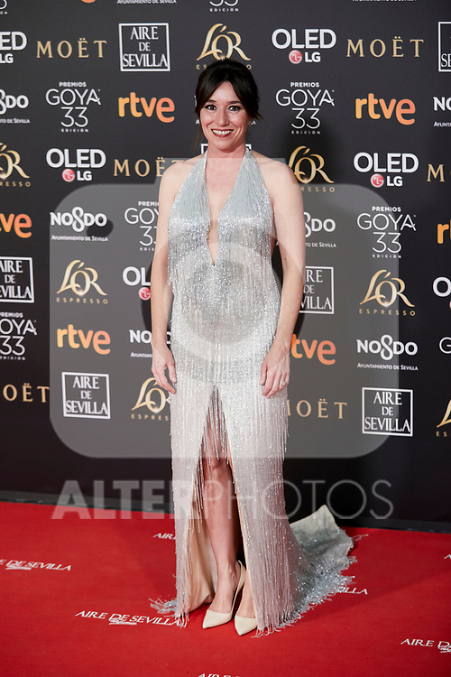 Lola Duenas attends to 33rd Goya Awards at Fibes - Conference and Exhibition  in Seville, Spain. February 02, 2019. (ALTERPHOTOS/A. Perez Meca)