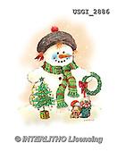 GIORDANO, CHRISTMAS SANTA, SNOWMAN, WEIHNACHTSMÄNNER, SCHNEEMÄNNER, PAPÁ NOEL, MUÑECOS DE NIEVE, paintings+++++,USGI2886,#X# ,#161#
