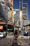 street scene in Karachi's financial and business district