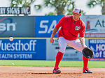5 March 2015: Washington Nationals first baseman Ryan Zimmerman fields practice grounders prior to a Spring Training game against the New York Mets at Space Coast Stadium in Viera, Florida. The Nationals rallied to defeat the Mets 5-4 in Grapefruit League play. Mandatory Credit: Ed Wolfstein Photo *** RAW (NEF) Image File Available ***