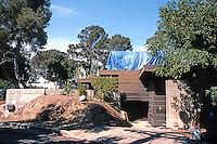 "Rudolph Schindler: Howe House, 2422 Silver Ridge, 1925. (Gebhard & Winter note ""originally flat-roofed"". Being restored?"