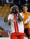 Francis Zoko of Stevenage is frustrated after going close<br />  - Wolverhampton Wanderers v Stevenage - Sky Bet League One - Molineux, Wolverhampton - 2nd November 2013. <br /> © Kevin Coleman 2013