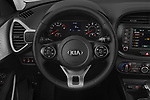 Car pictures of steering wheel view of a 2020 KIA Soul  X-Line 5 Door Hatchback