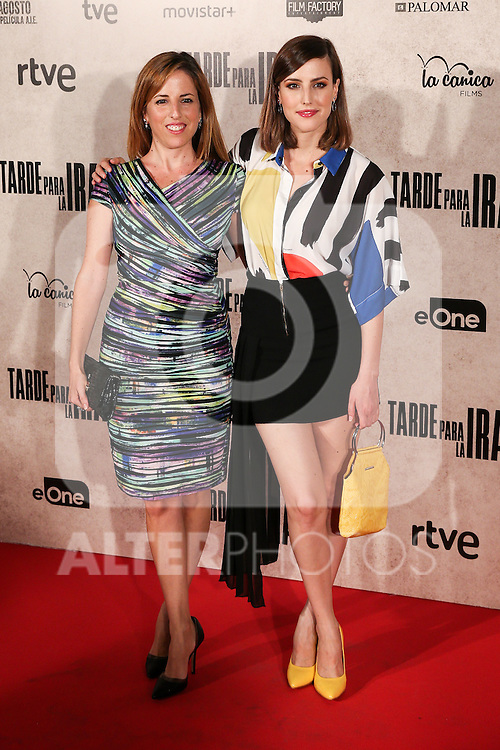 "Natalia de Molina and Maria de Molina during the premiere of the film ""Tarde para la Ira"" in Madrid. September 08, 2016. (ALTERPHOTOS/Rodrigo Jimenez)"