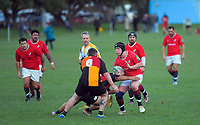 Action from the Wellington presidents club rugby union match between Marist St Pat's and Upper Hutt Rams at Kilbirnie Park in Wellington, New Zealand on Saturday, 4 July 2020. Photo: Dave Lintott / lintottphoto.co.nz