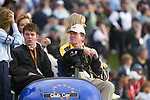 Ryder Cup 206 K Club, Straffan, Ireland..European Ryder Cup Vice Captain Des Smyth (R) with his son and Wife Vickey following the  morning fourballs session of the second day of the 2006 Ryder Cup at the K Club in Straffan, Co Kildare, in the Republic of Ireland, 23 September 2006...Photo: Eoin Clarke/ Newsfile.